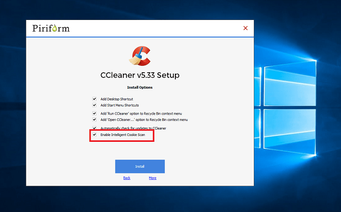 CCleaner Intelligent Cookie Scan