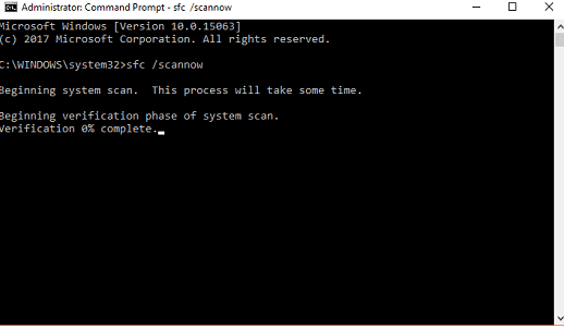 Run System File Scanner in windows