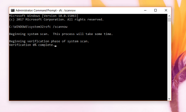 Run System File Scanner in Windows 10