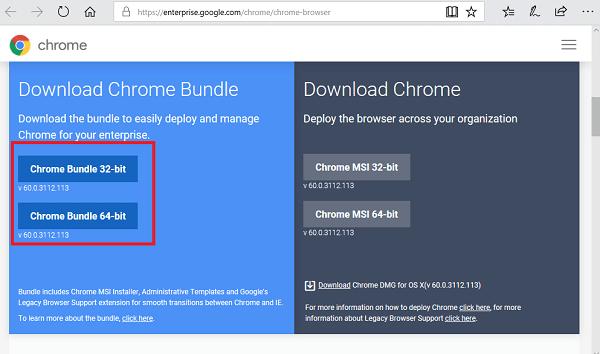 google chrome enterprise bundle