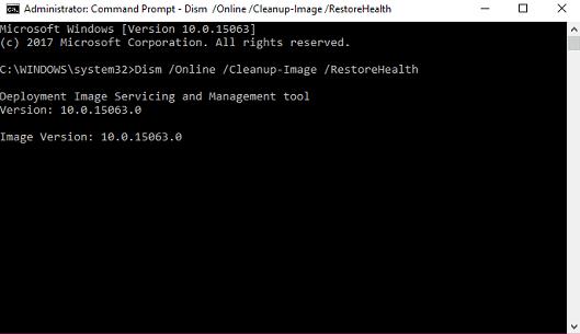 repair windows image using DISM in windows