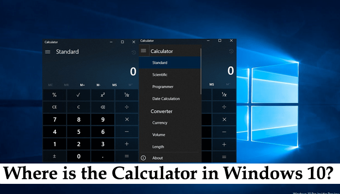 where is the calculator in windows 10