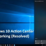 Fixed: Windows 10 Action Center Not Working