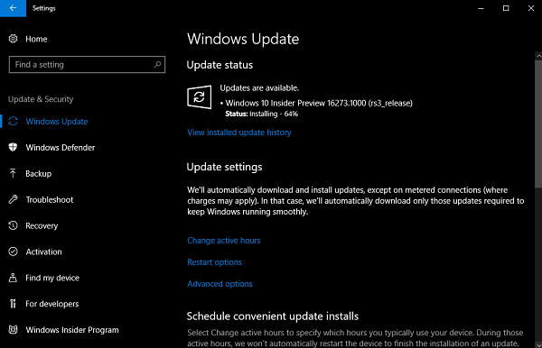 check for latest update in windows 10