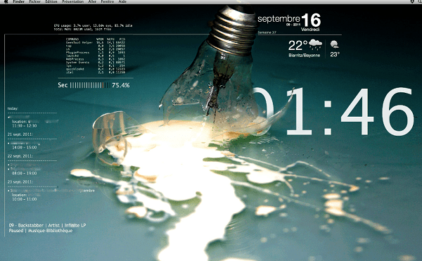 Geektool - Rainmeter Alternatives for Mac