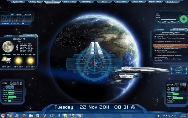 Mass Effect - Best Rainmeter Skins