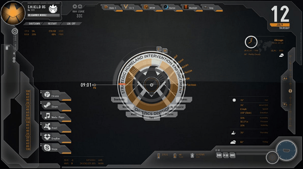 Avengers Shield - Best Rainmeter Skins