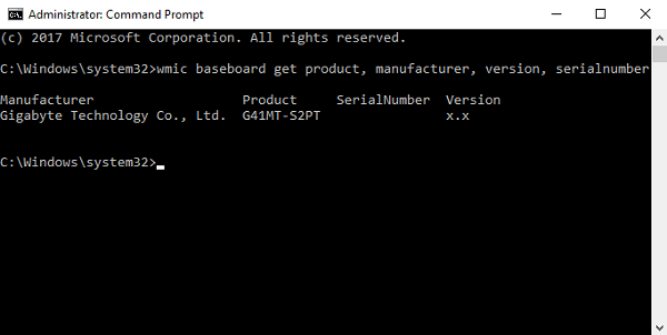 find What Motherboard Do I Have using command prompt