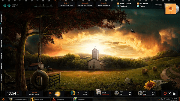 best rainmeter skin darkness fall
