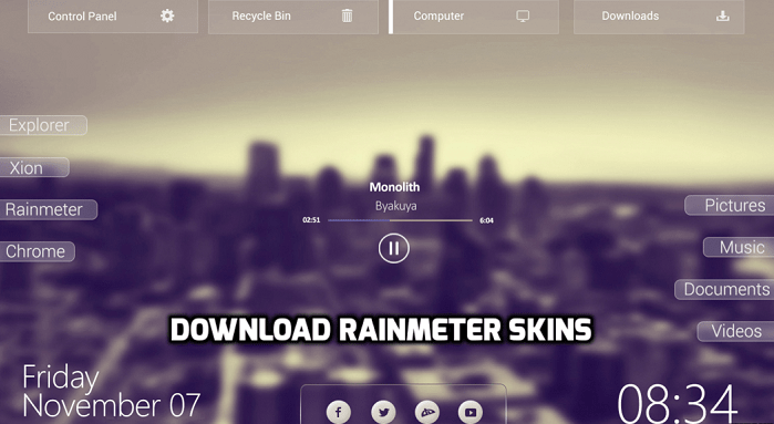 sites to download rainmeter skins windows 10