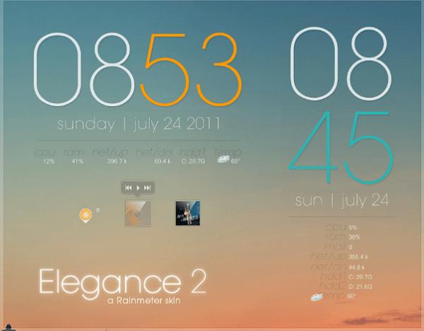 elegance 2 rainmeter skins