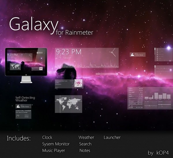 Galaxy Suite Rainmeter