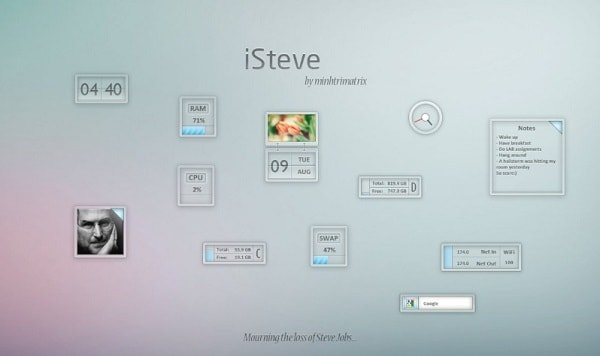 isteve skin for rainmeter