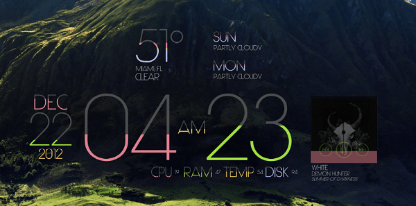 new rainmeter skin - limit