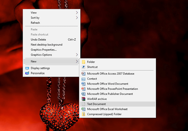 open a new notepad file in windows 10