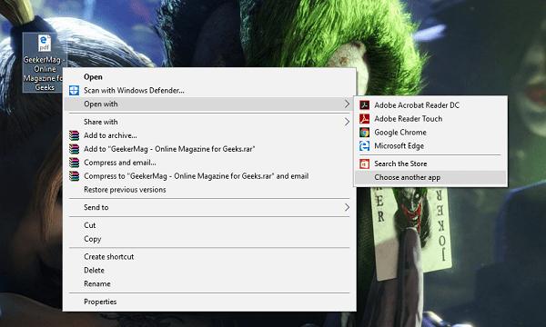 How to Make Adobe Acrobat Default Windows 10 PDF Viewer