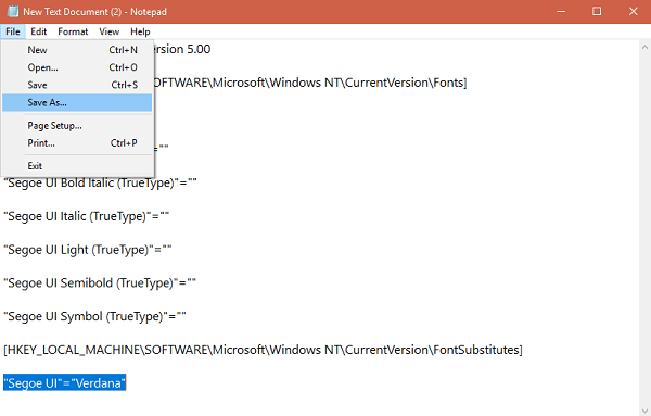 save notepad file in windows 10