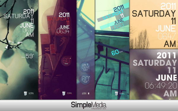 simple media rainmeter skin