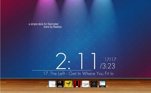 simpledock skin for rainmeter