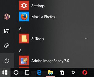start button windows 10