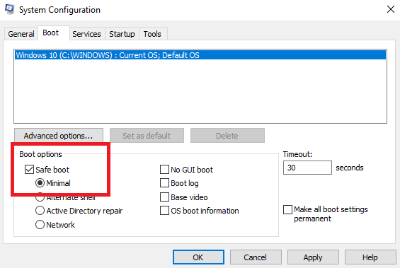 system configuration in windows 10