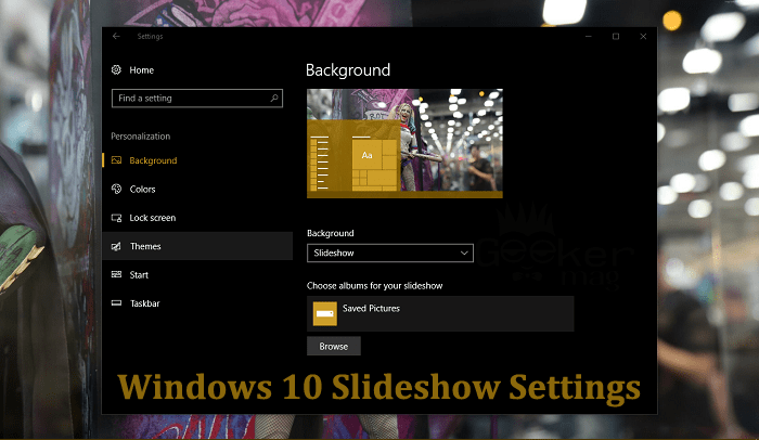 windows 10 slideshow settings