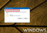 You Need Permission to Perform this Action in Windows 10
