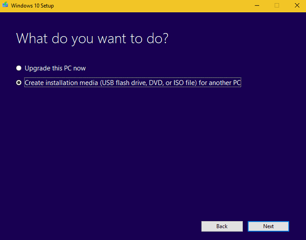 create installation media for windows 10 fall creators update