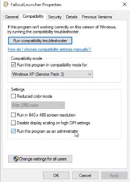 fallout launcher compatibilty