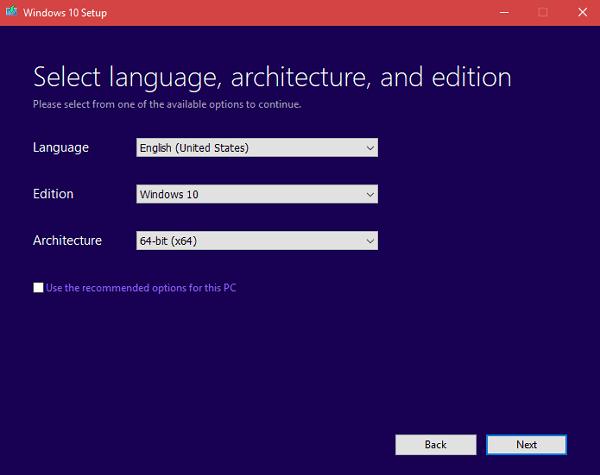 windows 10 64 bit edition