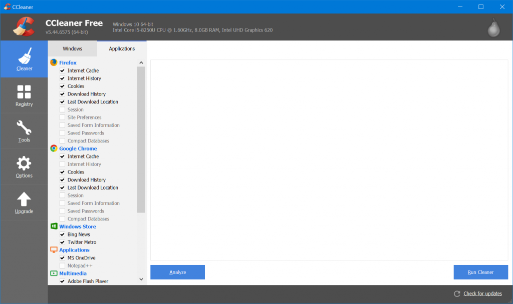 run ccleaner windows 10