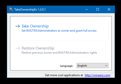 take ownership windows 10