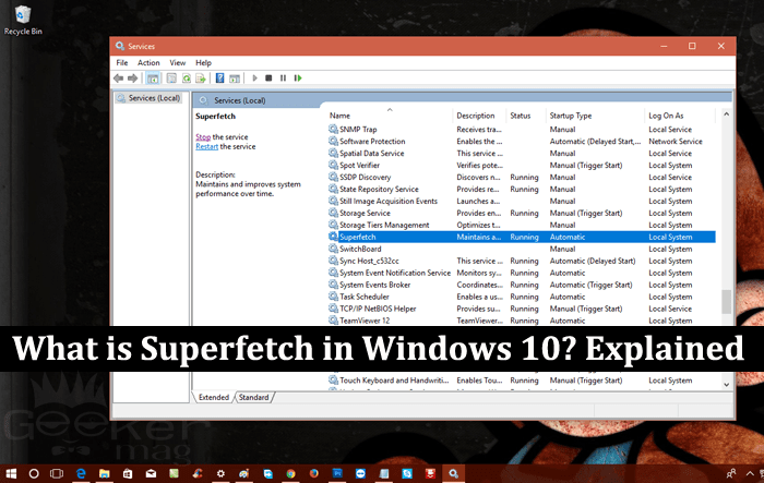 what is superfetch in windows 10