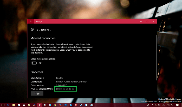 How to Find Mac Address on Windows 10