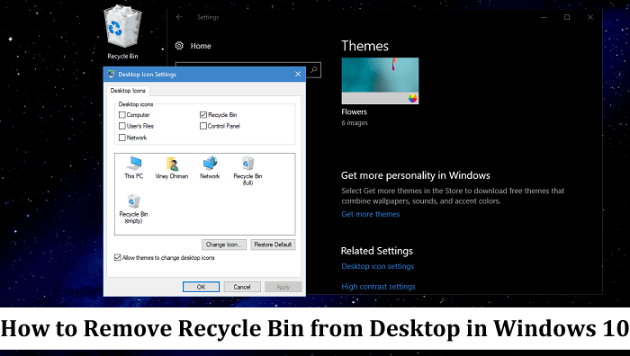 How to Remove Recycle Bin from Desktop in Windows 10