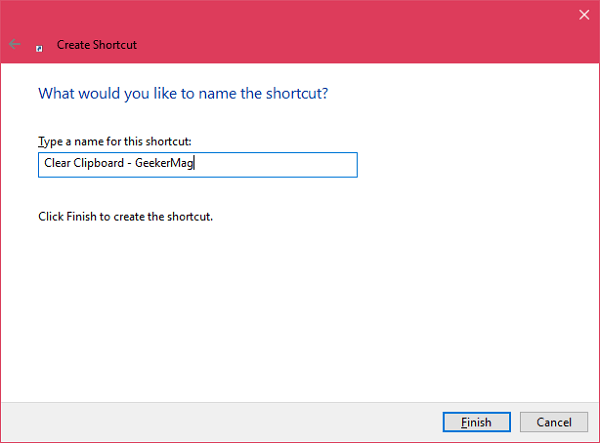 give name to shortcut