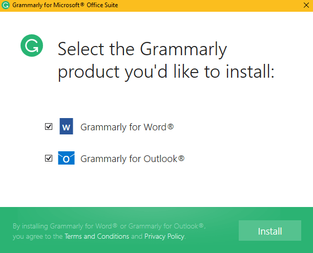 grammarly for word