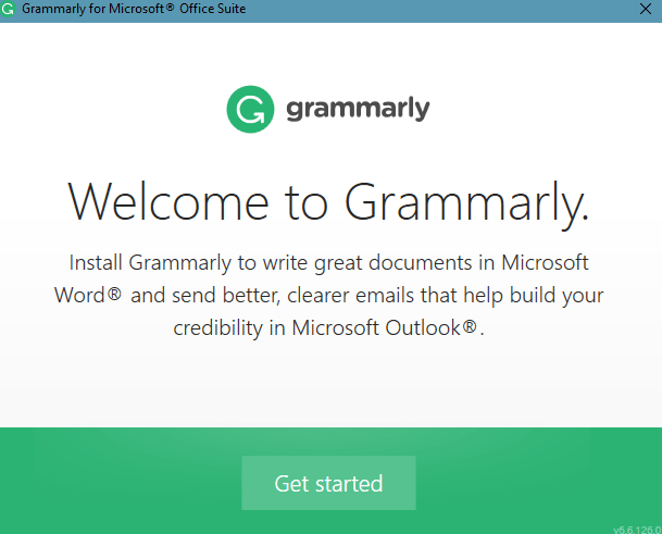 grammarly setup for Microsoft office