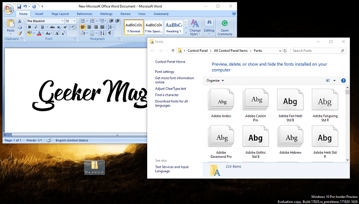 How to Add Font to Word (2003-2016) in Windows 10