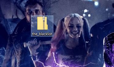the blacklist font zip file