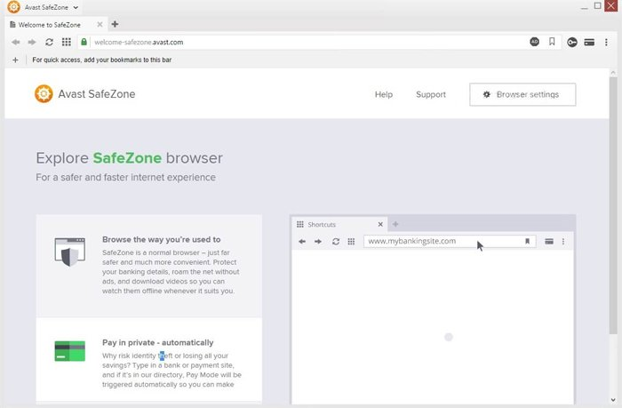 what is avast safezone browser