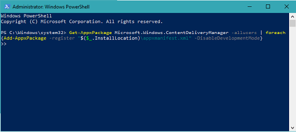 windows powershell in windows 10