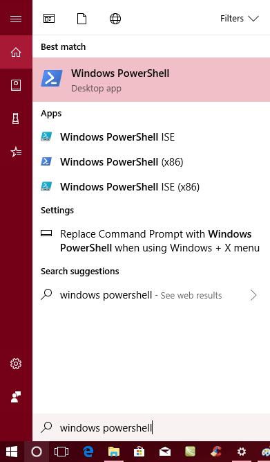 launch windows powershell windows 10