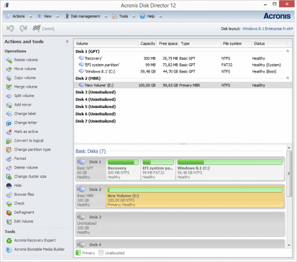 Acronis Disk Director 12 for windows 10