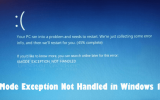 KMode Exception Not Handled in Windows 10