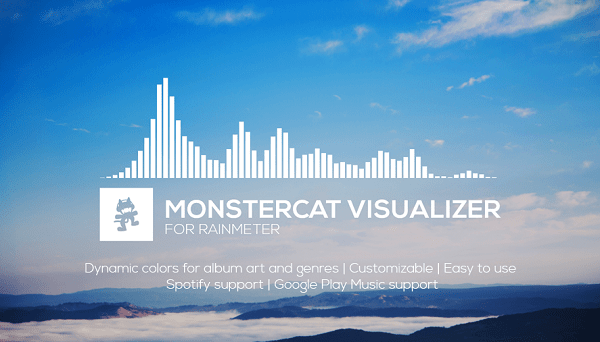 Monstercat Visualizer rainmeter skin