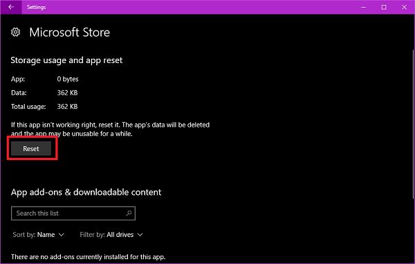 reset button microsoft button