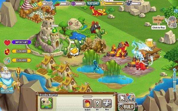 Dragon City for facebook