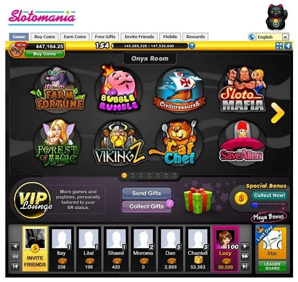 Slotmania Slot Machine for facebook