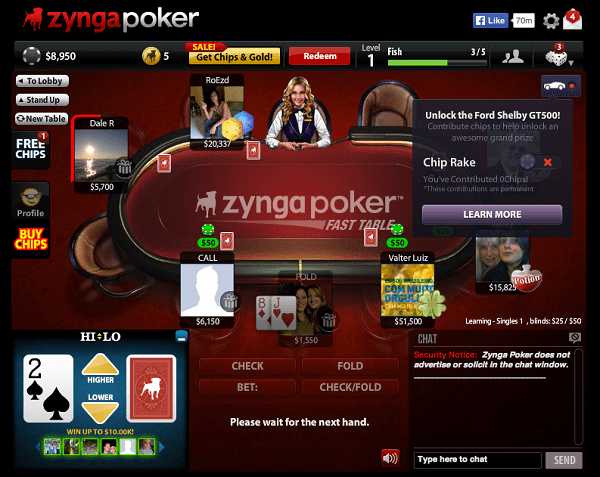 Texas Holdem Poker for facebook